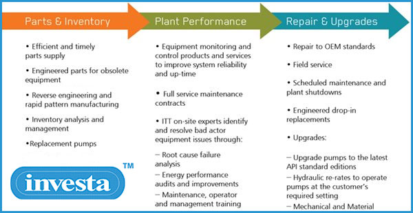 Goulds 3196 Interchangeable Pumps maintenance chart